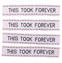 Item tags.    Ha! Love it.
