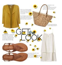 """""""Get the look: yellow & white"""" by janicevc on Polyvore featuring White Stuff, Heidi Klein, Aéropostale and Straw Studios"""