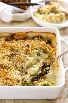 Creamy Parmesan Garlic Broccoli Casserole (Gratin / Bake)