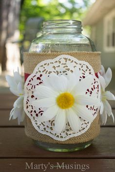 Thrifty Mason Jar Crafts and Video from Marty's Musings