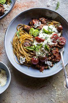 Tomato Basil Chicken Parmesan Bolognese