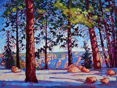 Landscape painting by Erin Hanson