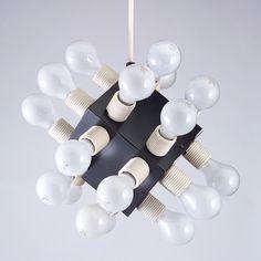 Robert Sonneman; Enameled Metal and porcelain Ceiling light, 1970s.