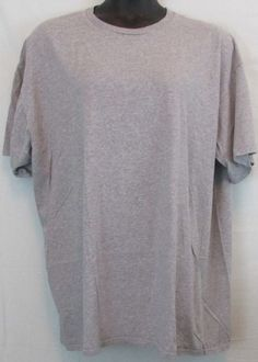 Fruit Of The Loom Gray or Grey and Black Men's T-Shirt Size 3XT Big & Tall #FruitoftheLoom #BasicTee