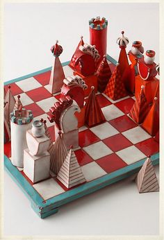 Terracotta Chess Set - I think one of my favorites for school auction!