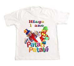Camiseta Personalizada Patati Patatá    Camiseta de ótima qualidade com ótimo caimento.    Trabalhamos com os Modelos e Tamanhos:  Gola Tradicional Adulto e Infantil.  Adulto: P - M - G - GG.  Infantil: 1 - 2 - 4 - 6 - 8 - 10 - 12 - 14 - 16.    Baby Look Feminina.  Adulto: P - M - G - GG.    Body...