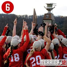 Coming in at No. 6 in this year's #Terrier12 is the women's soccer team's back-to-back Patriot League Championship and ninth bid to the NCAA Tournament in the last 10 years!