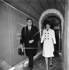 President John F. Kennedy and Mrs. Jacqueline Kennedy leave the White House, Washington on Jan. 11, 1962 for the Capitol where the Chief Executive will deliver his State of the Union message to a joint session of Congress.
