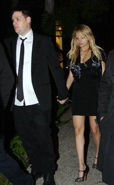 Nicole Richie wearing Christian Louboutin Mesh Mary Janes,  Attending Benny Medina's Birthday Party January 25 2008