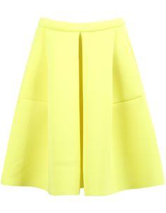 Yellow High Waist Flare Skirt 24.17