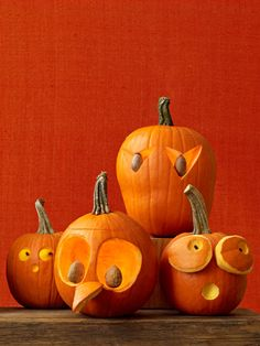 Funny Pumpkin Carving Ideas - Jack o Lanterns - Woman's Day Funny Pumpkins, Halloween Pumpkins, Halloween Crafts, Fall Halloween, Halloween Decorations, Halloween 2018, Halloween Prop, Halloween Witches, Halloween Quotes