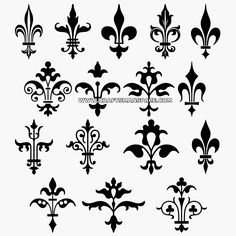 Collection of Fleur-de-lis designs