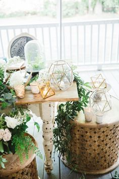 An Intertwined Event: Boho Chic Wedding at Calamigos Ranch Head table, lanterns, orbs, wedding elements, wedding design