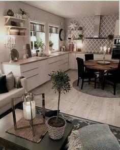 26 Best Farmhouse Kitchen Design Ideas To Bring Classic Look ~ House Design Ideas Best Kitchen Cabinets, Kitchen Cabinet Design, Kitchen Backsplash, Interior Design Kitchen, Home Design, Backsplash Ideas, Design Ideas, Kitchen Designs, Design Design