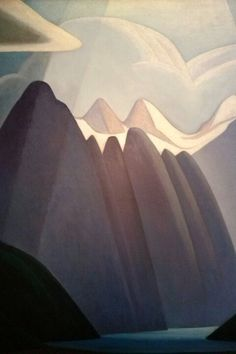 Canadian Modern Art - Mountain Painting - Lawren Harris - Group of Seven Tom Thomson, Emily Carr, Canadian Painters, Canadian Artists, Landscape Art, Landscape Paintings, Landscapes, Illustrations, Illustration Art