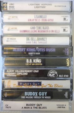 ThE BLuES cassette tape LoT vintage music by VintageTrafficUSA, $33.50