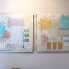 Two 30X30 Original Abstract Art By Holy Mabry