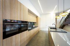 Современный дом с деревянной отделкой