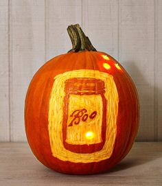 Summer might be over by the time Halloween rolls around, but you can still catch lightning bugs. Etch out a Mason jar and attach LED lights inside and out. Even better, use the blinking variety and they'll look like the real thing. Click through for a tutorial and more cool Halloween pumpkin carving ideas.