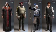 Assassin's Creed II Art & Pictures  Character Renders