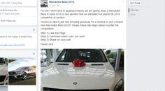 Đừng mắc lừa vụ share Facebook tặng Mercedes hay iphone 6s
