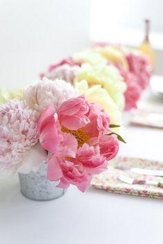 Boheme, peonies, pivoines, bouquet, soft pink, rose poudré