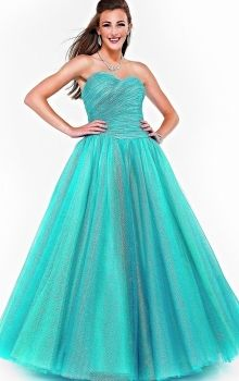 Blue Ball Gown Strapless,Sweetheart Natural Long/Floor-length Sleeveless Lace-up Prom Dresses Dress