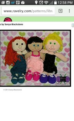 Polly and the dolls http://www.ravelry.com/patterns/library/polly-and-the-dolls