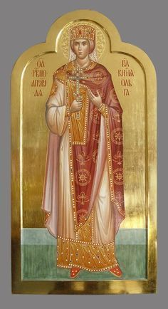 St Olga of Kiev / Religious Icons, Religious Art, Olga Of Kiev, Famous Freemasons, Roman Church, Paint Icon, Russian Icons, Old Norse, Byzantine Art