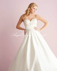 empire wedding dress, off white, plain, more poofy
