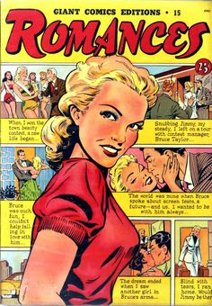 "Matt Baker cover art...Giant Comics Editions #15 ""Romances"" 1949"