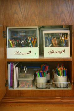Home is Where My Story Begins: Organizing Art Supplies for The Kids