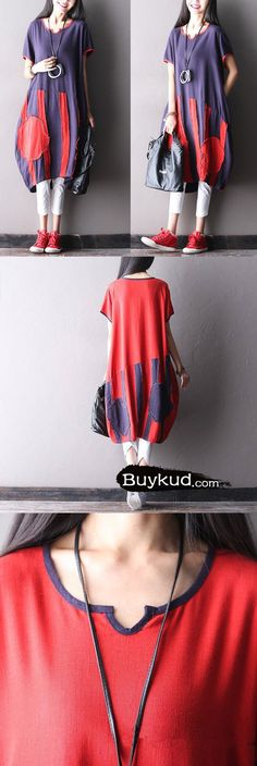 Women Casual cotton linen loose dress.It's made of linnen and cotton fabric.buykud dresses