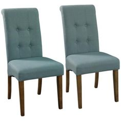 Townsend Blue Fabric Parsons Chair Set of 2 - lamps plus