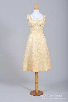 1940 Organza Cocktail Vintage Wedding Dress , Vintage Wedding Dresses - 1940 Vintage, Mill Crest Vintage  - 1