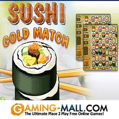 Play #SushiGoldMatch via #GamingMall  http://www.gaming-mall.com/puzzlegame/sushi-gold-match/ You have everything to make your own sushi restaurant the best in the world: a large assortment of sushi prepared by the best chefs in Japan, the music in the restaurant is performing by the most virtuosic musicians, the restaurant is decorated in the best traditions of the country of the rising sun. You have just to swap ingredients for making sushi in the way they disappeared from the field.