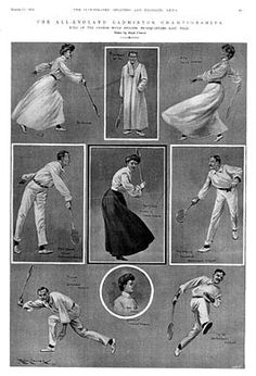 The All-England Badminton Championships held at the London Rifle Brigade HQ, March 1905