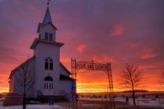 Photographer Christian Begeman has captured South Dakota's rural churches against backdrops of receding storms and Northern Lights.