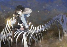 Imagem de anime, girl, and light