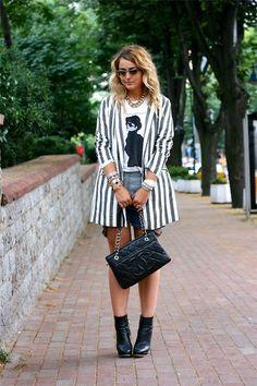 Zara T Shirt, Zara Jacket, Chanel Bag