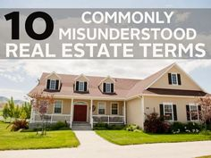 10 commonly misunderstood real estate terms. #cornerstonerealestate #realestate #buyingahome