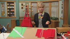 Nancy's Favorite Handbag Sewing Techniques Part Two  | Learn Nancy's secrets for making a designer handbag with panache. Add grommets and piping to a cinched tote, embroider monograms on faux leather, or create a continuous strap to hold a yoga mat or baby blanket. Nancy's easy handbag techniques can be adapted for your favorite bag pattern