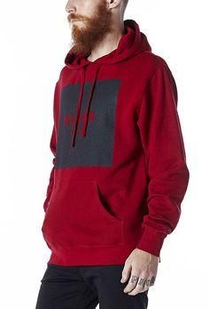 Moletom Masculino Never Again Vermelho - KING55 Loja de roupas