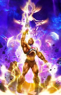 Comic Book Characters, Comic Books, He Man Thundercats, Revelation 1, Shock And Awe, The Originals Characters, Universe Art, Classic Cartoons, New Poster