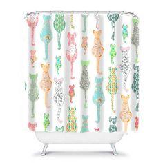 shower curtain cat bathroom decor cat shower curtain shabby