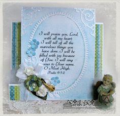 Psalm 9:1-2 Scripture Card by Sarah at Plain an Fancy Papercrafts