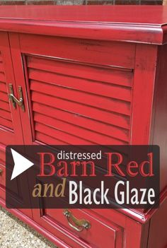 Vintage Cedar Chest in Barn Red & Black Glaze - From Facelift Furniture