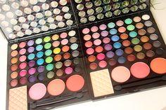 Resenha completa dos kits de maquiagem da Vult - Studio 1 e Studio 3D, muitas cores de sombras, bush e pó iluminador