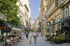 Picture of The shopping area of the Hungarian capital Budapest Vaci utca stock photo, images and stock photography. River Cruises In Europe, Cruise Europe, My House In Budapest, Capital Of Hungary, Budapest Hungary, Visit Budapest, Ocean Cruise, Heart Of Europe, Macedonia