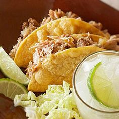 Pork Verde Tacos From Better Homes and Gardens, ideas and improvement projects for your home and garden plus recipes and entertaining ideas.